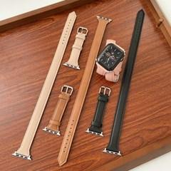 애플워치 더블 슬림 가죽 스트랩 루프 밴드 시계줄 44mm