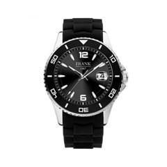 [프랭크1967] 블랙 다이얼 실리콘 손목시계 7FW-0017