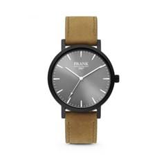 [프랭크1967] 가죽 손목시계 그레이브라운 7FW-0016