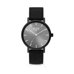 [프랭크1967] 가죽 손목시계 그레이블랙 7FW-0015