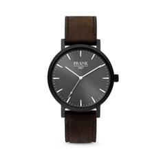 [프랭크1967] 가죽 손목시계 블랙브라운 7FW-0011