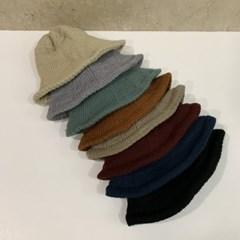 니트 기본 심플 벽돌 와인 꾸안꾸 버킷햇 벙거지 모자