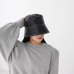 에코 레더 스티치 데일리 꾸안꾸 버킷햇 벙거지 모자