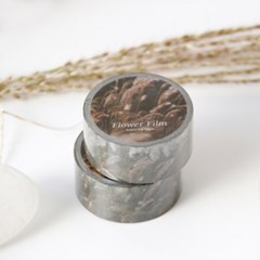 Flower Film Masking Tape [Silver Grass]