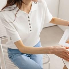 당일배송 SALE 여성 여름 반팔티 티셔츠 트임 니트