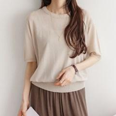 당일배송 SALE 여성 여름 반팔티 티셔츠 라운드니트