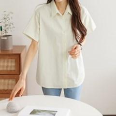 당일배송 SALE 여성 여름 반팔 블라우스 셔츠 레터미