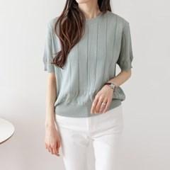 당일배송 SALE 여성 여름 멜로디 반팔티 티셔츠 니트