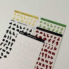 alphabet sticker (5color)