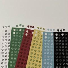 number heart sticker (6color)