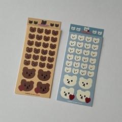 emotion sticker (brownie/muffin) (리무버블)