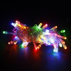 50구 투명선 LED 칼라트리전구(5M) (점멸有)