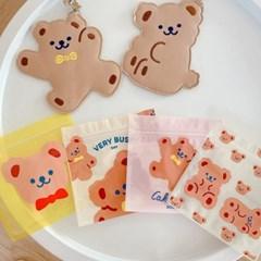 케이크베어 미니 지퍼백 선물포장 소품수납 귀여운 포장백