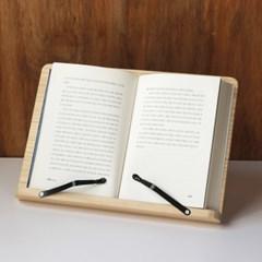 퍼니스코 원목 독서대 접이식 독서 받침대 책 거치대
