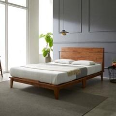 [스코나]카니건 원목 평상형 퀸 침대(매트별도)