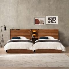 잉글랜더 도로시 원목 호텔형 트윈 수납 침대+협탁1EA(DH7존라텍스독