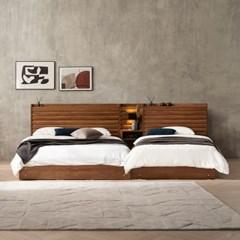 잉글랜더 도로시 원목 호텔형 트윈 수납 침대+협탁1EA(매트제외-Q+SS