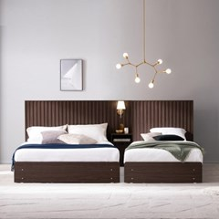 잉글랜더 마벨 호텔형 트윈 수납 침대+협탁1EA(매트제외-Q+SS)
