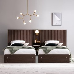 잉글랜더 마벨 호텔형 트윈 수납 침대+협탁1EA(매트제외-SS+SS)