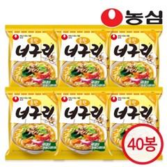 농심 너구리 순한맛 1박스 (40개입) /라면/봉지라면