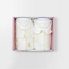 [메르베] 은은한 빛 아기 돌선물세트(내의+수면조끼)_겨울용