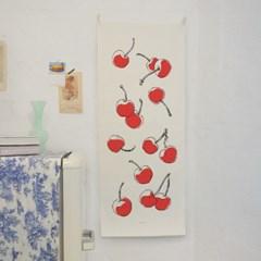 fruit/과일 B_세로형 패브릭 포스터 / 바란스커튼