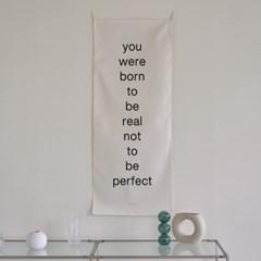 real/레터링_세로형 패브릭 포스터 / 바란스커튼