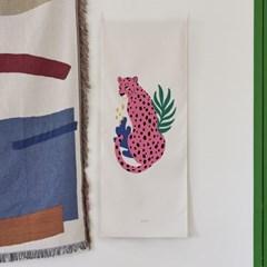 leopard A_세로형 패브릭 포스터 / 바란스커튼