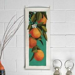 orange tree/오렌지나무_세로형 패브릭 포스터 / 바란스커튼