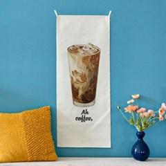 coffee/커피 A_세로형 패브릭 포스터 / 바란스커튼