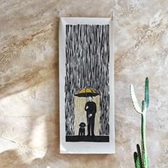 with the rain_세로형 패브릭 포스터 / 바란스커튼