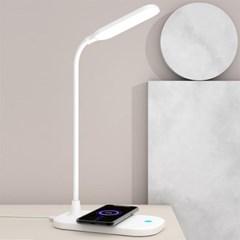 LED 스마트 휴대폰 무선충전 3단 조명 스탠드 2in1