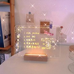 메시지 문구 그림 LED 무드등 투명칠판 투명보드 셀프조명