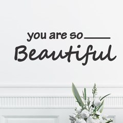 you are so beautiful 예쁜 레터링 인테리어 스티커