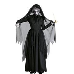 검은 망토 뱀파이어 마녀 코스튬 할로윈 파티복 의상  H