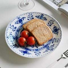 블루블랑 브런치 접시 22cm