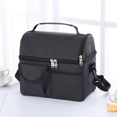 소풍 2단 보온보냉 가방(블랙) 캠핑 피크닉 아이스 쿨러백