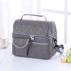 소풍 2단 보온보냉 가방(그레이) 음식보관 캠핑 아이스백