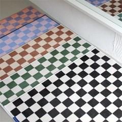 체커보드 사계절 단모 미니러그 발매트 2size 5colors