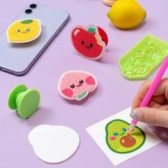 과일 보석십자수 스마트톡 만들기 핸드폰 거치대 그립 보석톡