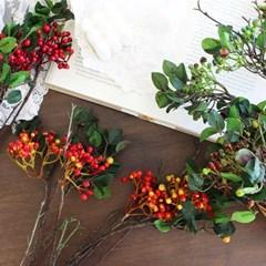 앤틱 베리 열매 나무가지 조화 (4colors)