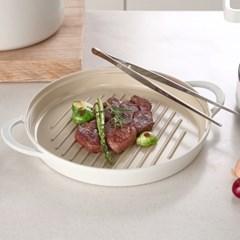 네오플램 피카 IH 원형그릴팬+요리 핀셋 L
