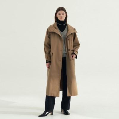 High Hood  Trench coat - Beige