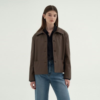 Lordly Leather Jacket - Brown