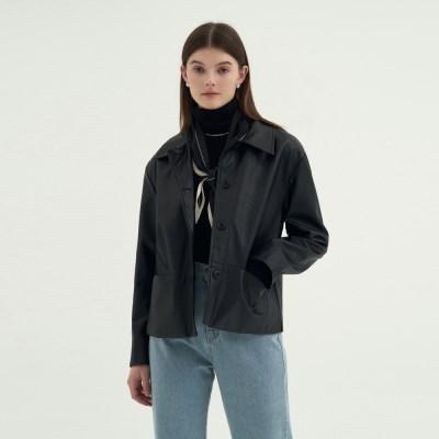 Lordly Leather Jacket - Black