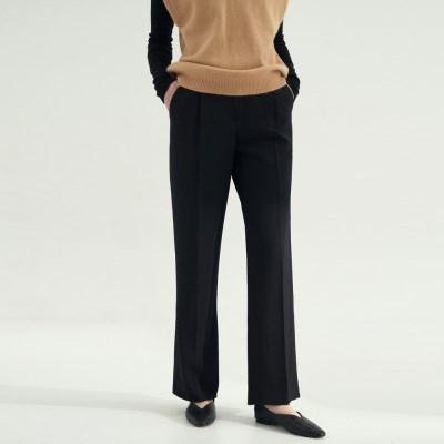 Standard Pin tuck Slacks - Black