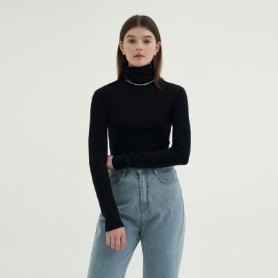 Wool Pola T-shirts - Black