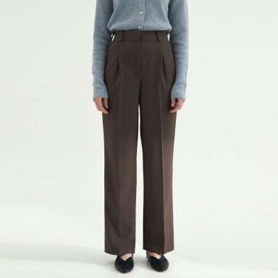 Standard Pin tuck Slacks - Brown