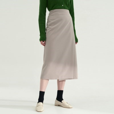 Breeze Wrap Skirts - Beige