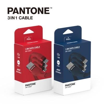 팬톤 케이블 3IN1핸드폰 충전 케이블 C타입 5핀 8핀
